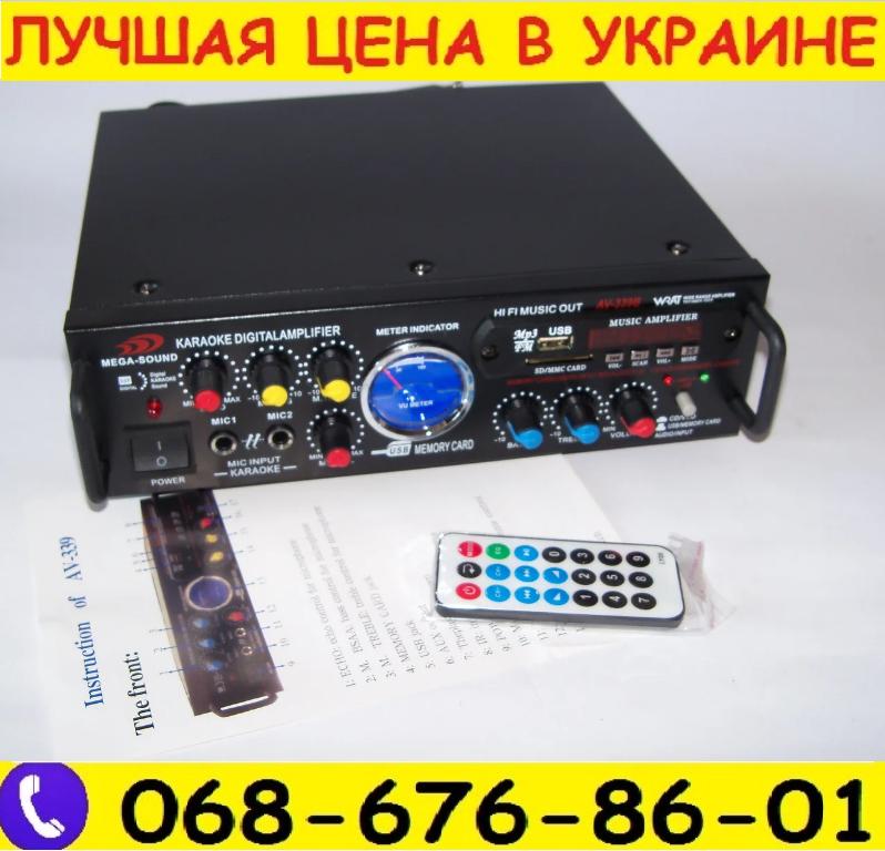 Підсилювач Mega Sound 2х500W.Підсилювач.