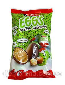 Кіндер яйця Kinder Eggs orzech milk 120г. (12 шт Кіндер міні яйця).