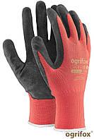 Перчатки рабочие с латексным покрытием OX-LATEKS OGRIFOX (красно-черные) пара
