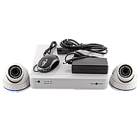 Комплект видеонаблюдения GreenVision GV-IP-K-S33/02 1080P