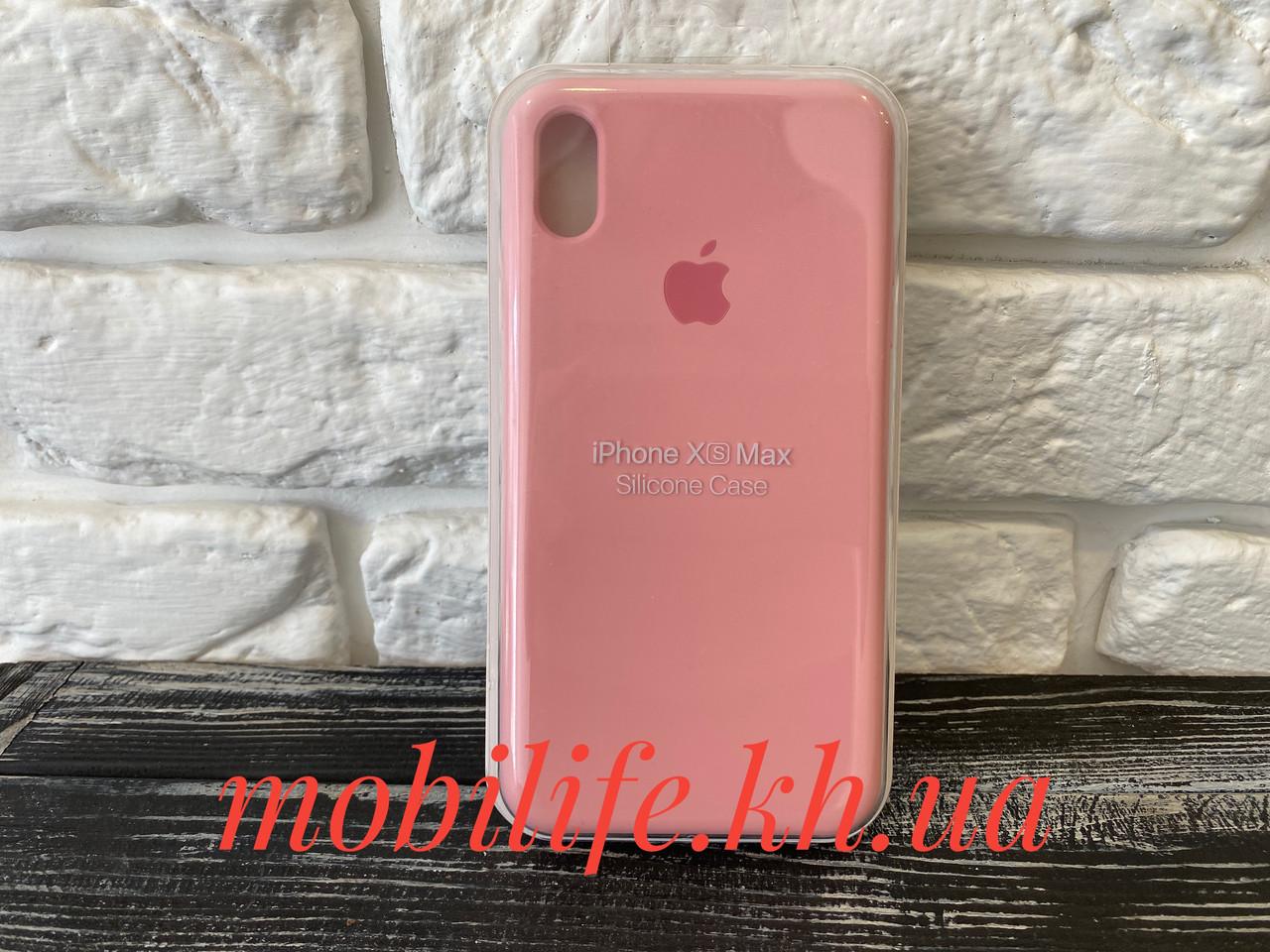 Чехол Silicon Case Original Apple iPhone Xs Max/нежно розовый/Высокое Качество/