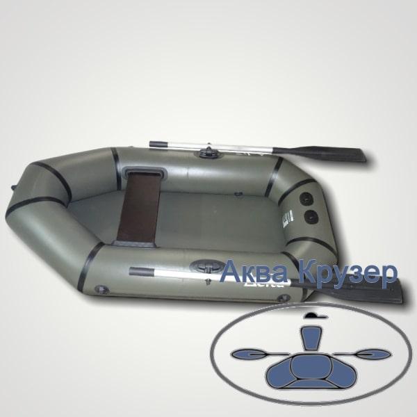 Човен надувний ПВХ легкий одномісний гребний omega Дельта Ω 190 L, колір хакі