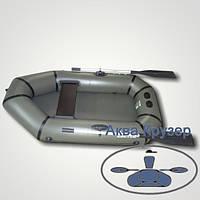 Човен надувний ПВХ легкий одномісний гребний omega Дельта Ω 190 L, колір хакі, фото 1