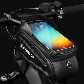 Велосумка 7,5 дюймов для смартфона на раму WheelUp
