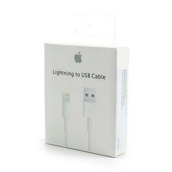Кабель зарядка Lightning to USB шнур для зарядки iPhone 1м белый зарядный провод