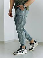 Чоловічі джинси-джогери світло-сині, фото 1