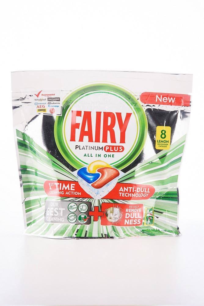 - FAIRY JAR капсула для посуд-машин 8шт (6*124gr) Platinum Lemon