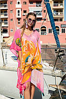 Туника пончо женская пляжная из шифона Indiano 21NI-306 SH