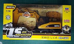 Екскаватор гусеничний Хаина HUINA HL1550. Радіокерована модель в масштабі 1/14