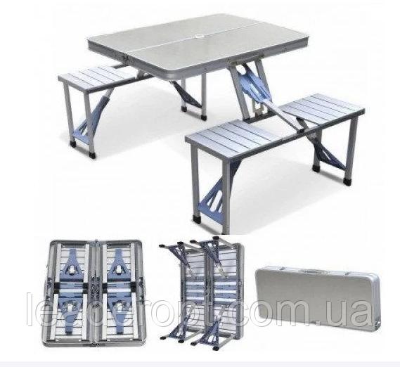 ОПТ Стол Picnic Table Складной алюминиевый стол для пикника со стульями