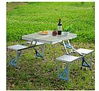 ОПТ Стол Picnic Table Складной алюминиевый стол для пикника со стульями, фото 3