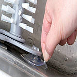 Комплект щеток для мытья стаканов и бутылок MultiFunction Suction Cup Brush  Ёршик для мытья Lesko на присоске, фото 4