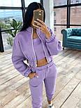 Женский спортивный костюм - тройка с топом, штанами и укороченной мастеркой 66051158Q, фото 5