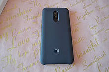 Original Silicone Case для Xiaomi  Redmi 5 Plus. Силиконовый чехол с микрофиброй для сяоми редми 5 плюс Синий