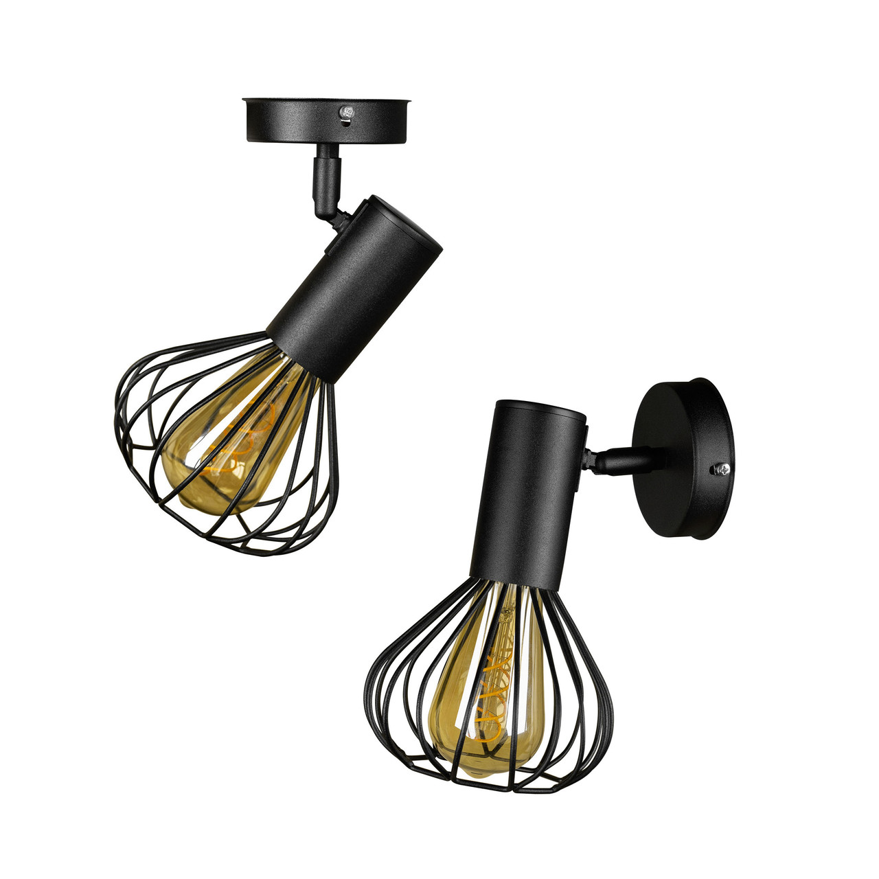 Світильник лофт настінно-стельовий MSK Electric NL 1415-1