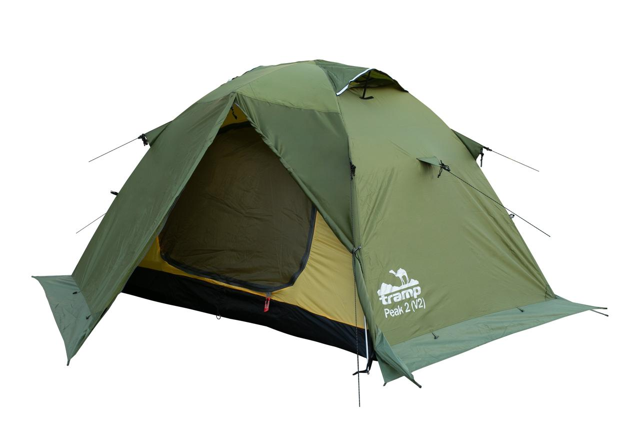 Палатка Tramp Peak 2 (V2) Зеленый