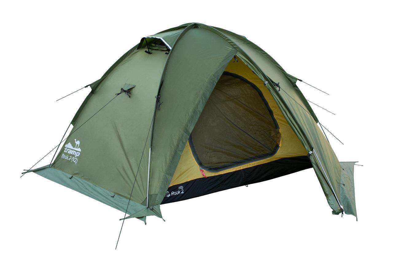 Палатка Tramp ROCK 2 (V2) Зеленая