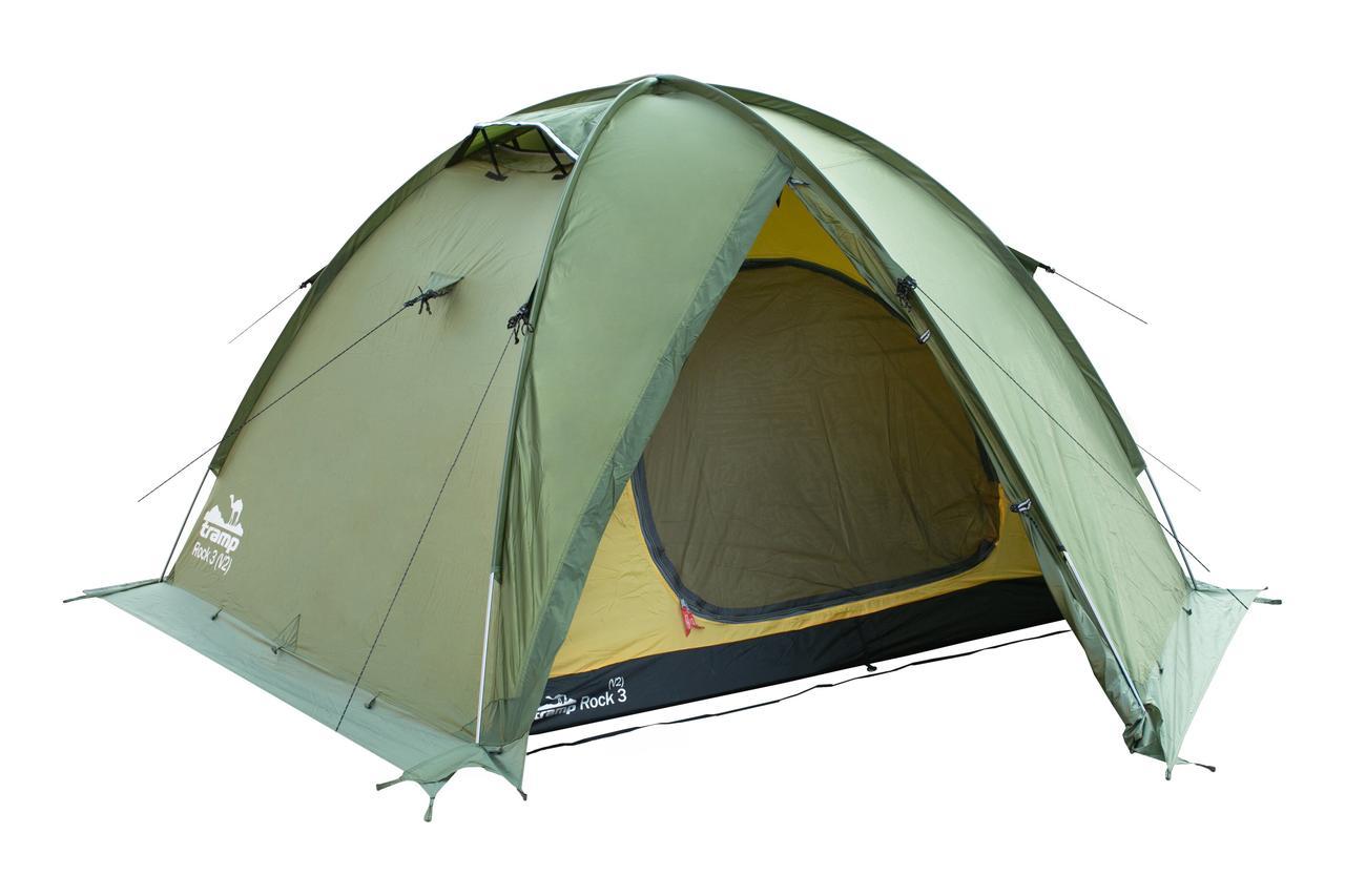 Палатка Tramp ROCK 3 (V2) Зеленая