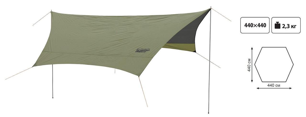 Тент із стійками Tramp Lite Tent green