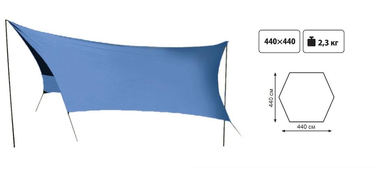 Тент із стійками Tramp Lite Tent blue