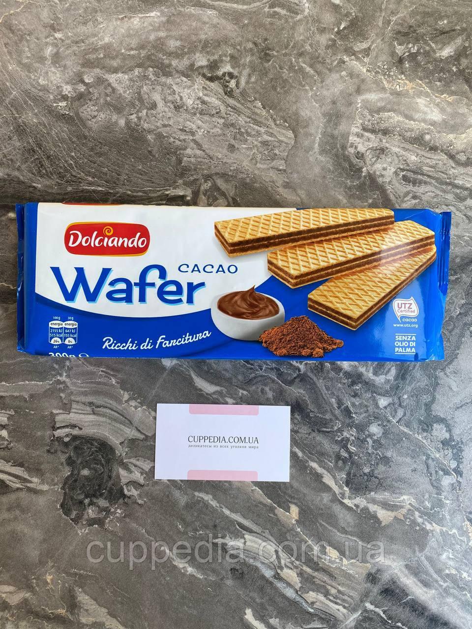 Вафлі Wafer Dolciando Cacao 300 грм