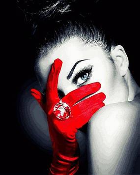 Картины по номерам 40×50 см Mariposa Девушка в красной перчатке (Q 2255)