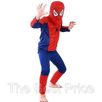 Маскарадный костюм Спайдермен синий (размер М)