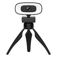 Веб-камера 4K Full HD (3840x2160)  вебкамера с подсветкой (3 режима) микрофоном для ПК компьютера ноутбука UTM, фото 1