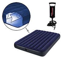 Матрас надувной для сна Надувные матрасы для отдыха, полуторный Intex, 152х203 Надувная мебель Насос в подарок