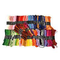 Набор ниток мулине 100 шт мулине для вышивания Цвета разные дмс  МИКС Нитки для вышивки крестом и рукоделия