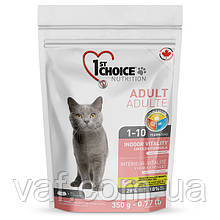 Сухой супер премиум корм для котов 1st Choice Adult Indoor Vitality Chiken Фест Чойс Курица Виталити 0.35 кг