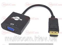 03-00-082. Переходник штекер Display Port → гнездо VGA, gold pin, шнур 20см