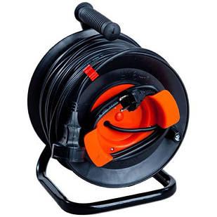 Подовжувач електричний з виносною розеткою на котушці У16-03 ПВС 2х2,5 25 м без Т/З Леміра переноска