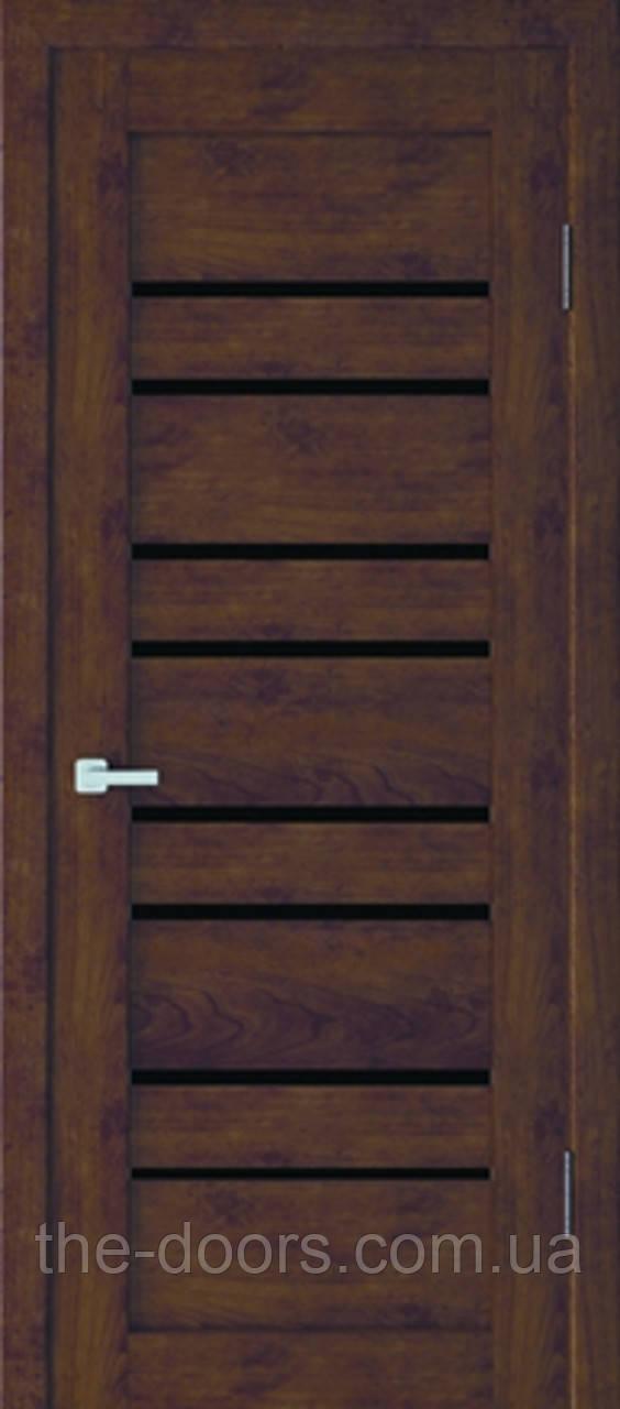 Двери межкомнатные Неман RV 01 стекло черное