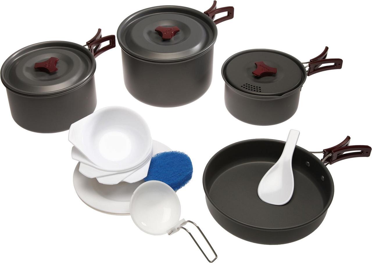 Набор посуды из анодированого алюминия Tramp TRC-026