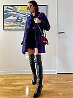 Жіночий стильний в'язаний жакет з кишенями, фото 1