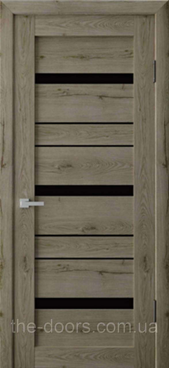 Двери межкомнатные Неман RV 03 стекло черное