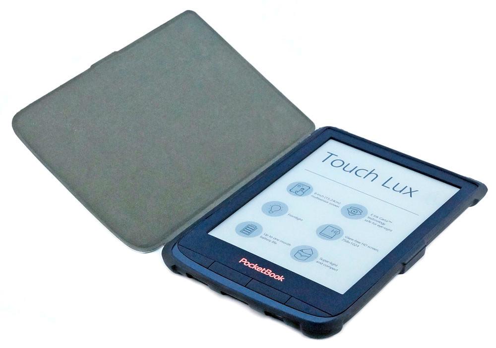 Чохол для PocketBook 628 Touch Lux 5 синій - open