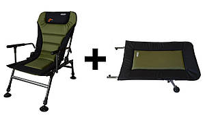 Крісло риболовне, коропове Novator SR-2 Comfort + Підставка Novator POD-1 Comfort
