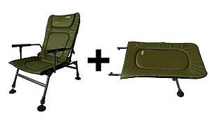 Крісло риболовне, коропове Novator SR-2 + Підставка Novator POD-1