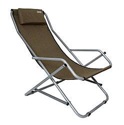 Шезлонг пляжный садовый раскладной Novator SH-7 Brown