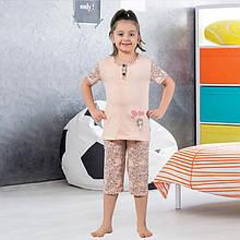 Піжама дитяча для дівчинки з бриджами демісезонна, Туреччина від 4 до 13 років, костюм для будинку 75041