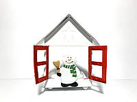 Новогодний подсвечник снеговик для чайной свечи Home