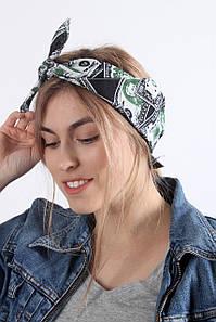 Бандана FAMO Долар зелена 55*55 #L/A