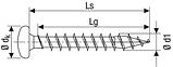 Саморез SPAX с покр. WIROX 4,5х40, полная резьба, полукруг. головка, PZ2, 4CUT, упак.500 шт., пр-во Германия, фото 2
