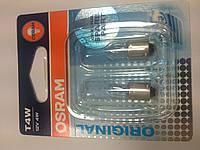 Osram T4W 12v 4w лампа автомоб. Ba9s
