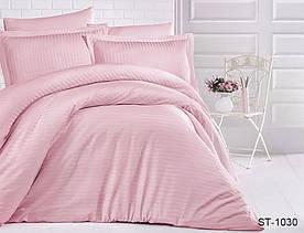 Комплект постельного белья полуторный страйп-сатин LUXURY ST-1030