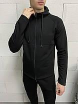Мужской спортивный костюм черного цвета, фото 2
