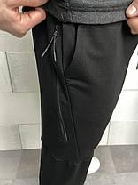 Мужской спортивный костюм черно-серого цвета, фото 2