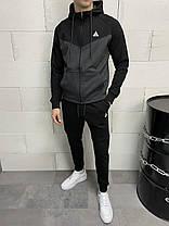 Мужской спортивный костюм черно-серого цвета, фото 3